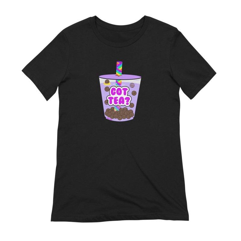Got Tea? Women's Extra Soft T-Shirt by Robo Roku
