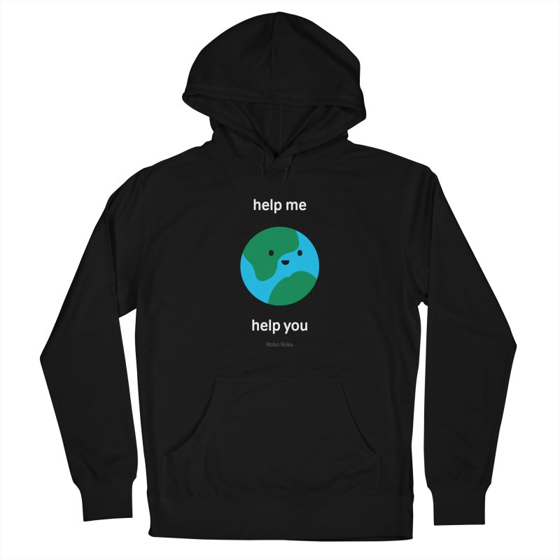 Earth Tee Men's Pullover Hoody by Robo Roku