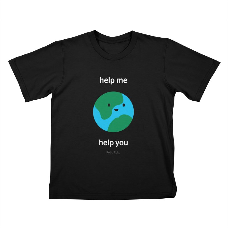 Earth Tee Kids T-Shirt by Robo Roku