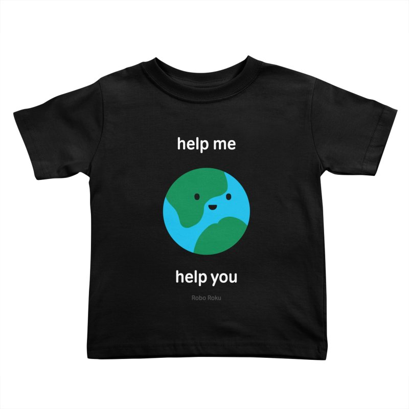 Earth Tee Kids Toddler T-Shirt by Robo Roku