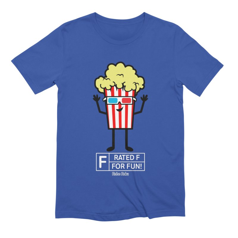 Pop - F is for Fun Men's T-Shirt by Robo Roku