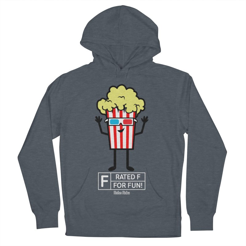 Pop - F is for Fun Men's French Terry Pullover Hoody by Robo Roku