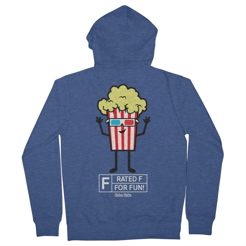 Pop - F is for Fun Men's French Terry Zip-Up Hoody by Robo Roku