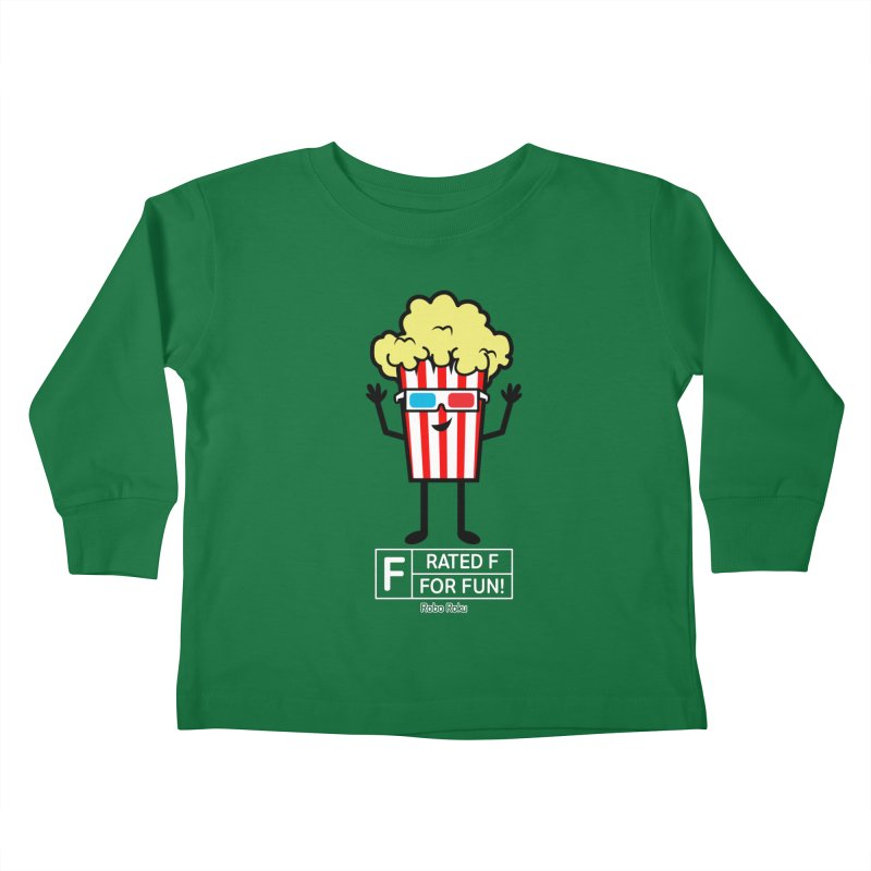 Pop - F is for Fun Kids Toddler Longsleeve T-Shirt by Robo Roku