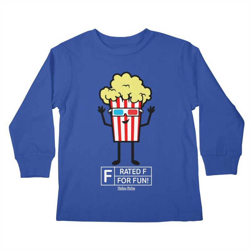 Pop - F is for Fun Kids Longsleeve T-Shirt by Robo Roku