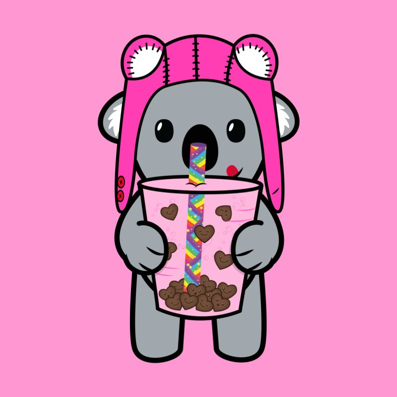 Bubble Tea Ace Koala (Kawaii Love Edition) by Robo Roku