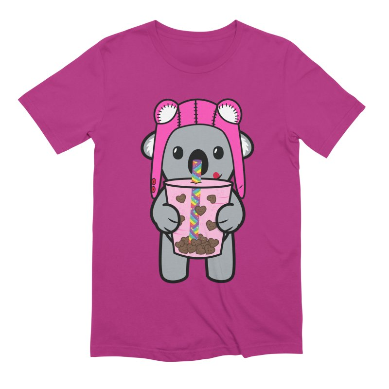 Bubble Tea Ace Koala (Kawaii Love Edition) Men's Extra Soft T-Shirt by Robo Roku