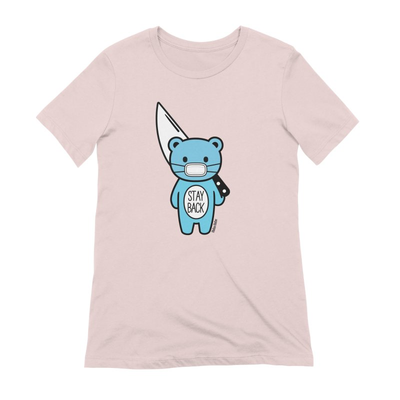 Stay Back Mood Bear Women's T-Shirt by Robo Roku