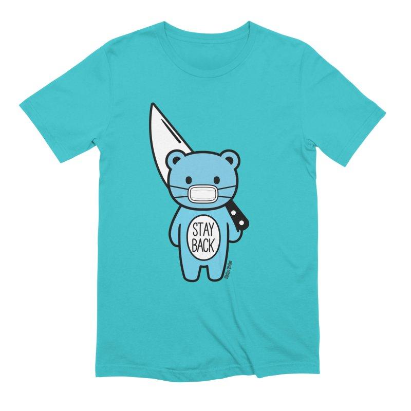 Stay Back Mood Bear Men's T-Shirt by Robo Roku