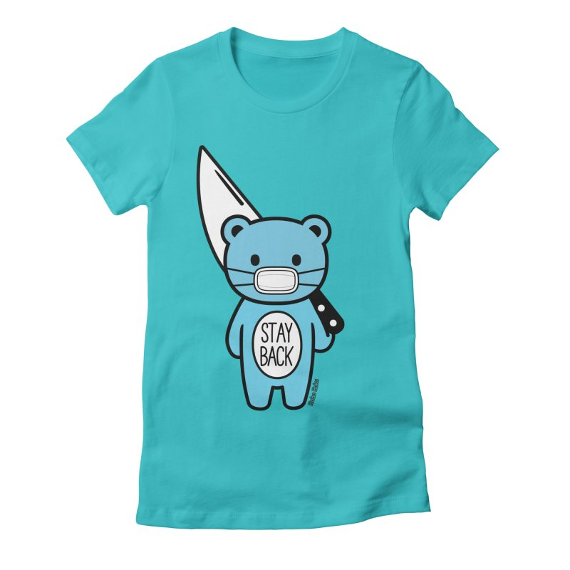 Stay Back Mood Bear Women's T-Shirt by Robo Roku
