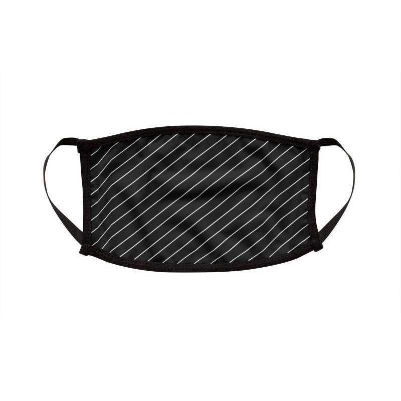 Classy Stripes Accessories Face Mask by Robo Roku