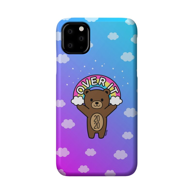 OVER IT 2020 Mood Bear Accessories Phone Case by Robo Roku