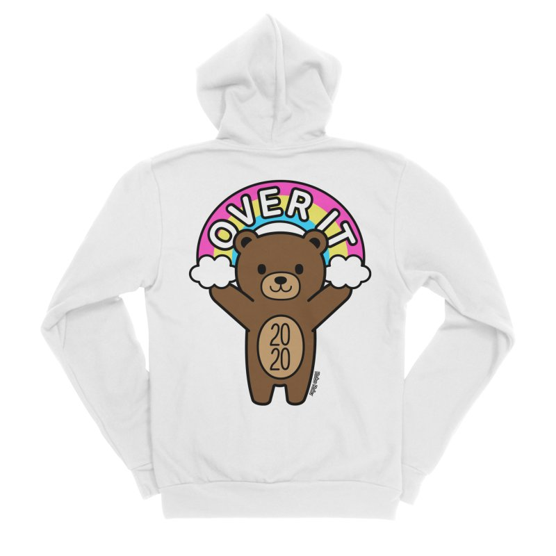 OVER IT 2020 Mood Bear Men's Zip-Up Hoody by Robo Roku