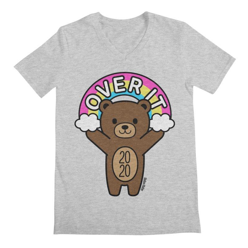 OVER IT 2020 Mood Bear Men's V-Neck by Robo Roku