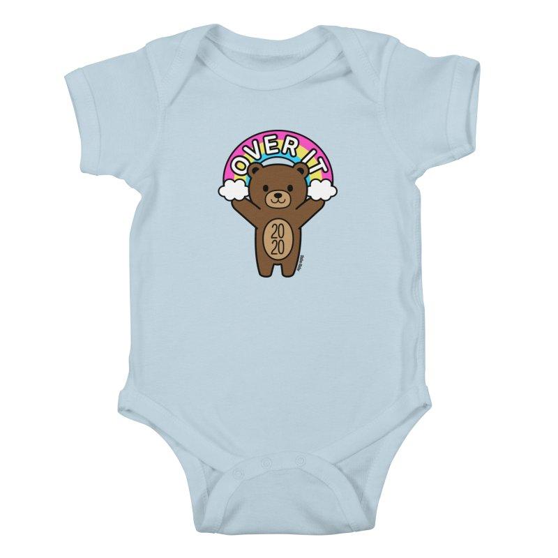 OVER IT 2020 Mood Bear Kids Baby Bodysuit by Robo Roku