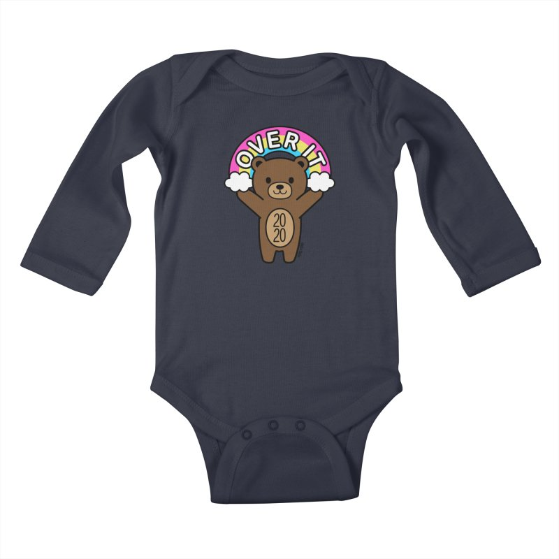 OVER IT 2020 Mood Bear Kids Baby Longsleeve Bodysuit by Robo Roku