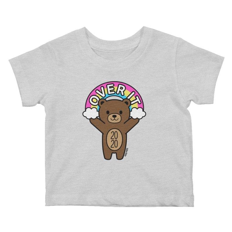 OVER IT 2020 Mood Bear Kids Baby T-Shirt by Robo Roku
