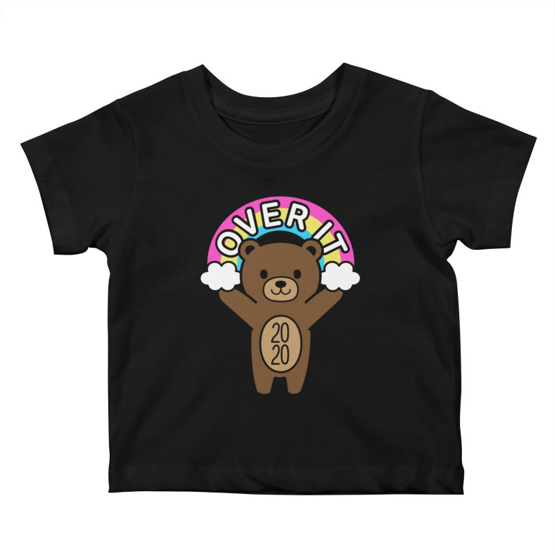 OVER IT 2020 Mood Bear Kids Baby T-Shirt by Robo Roku