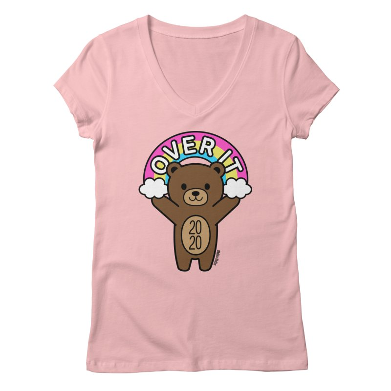 OVER IT 2020 Mood Bear Women's V-Neck by Robo Roku