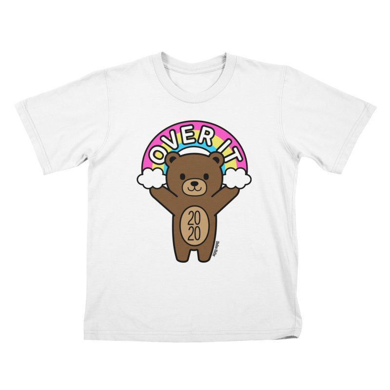 OVER IT 2020 Mood Bear Kids T-Shirt by Robo Roku