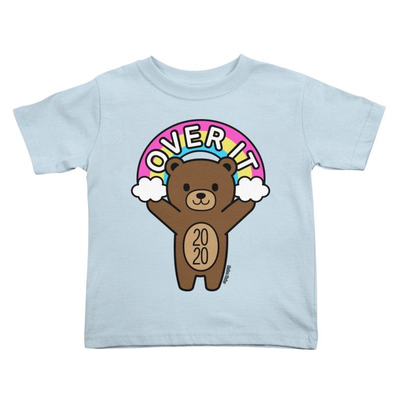 OVER IT 2020 Mood Bear Kids Toddler T-Shirt by Robo Roku