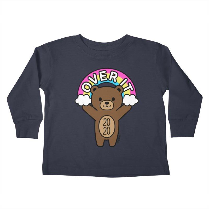 OVER IT 2020 Mood Bear Kids Toddler Longsleeve T-Shirt by Robo Roku