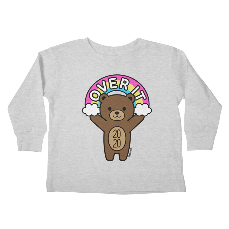 OVER IT 2020 Mood Bear Kids Toddler Longsleeve T-Shirt by Robo Roku