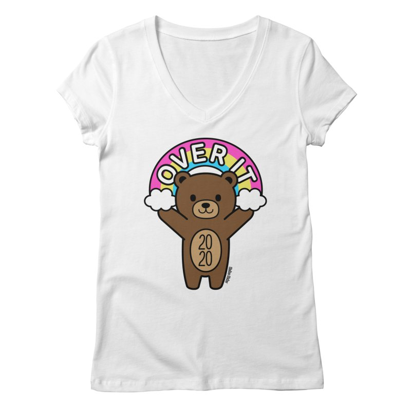 OVER IT 2020 Mood Bear Women's V-Neck by Robo Roku