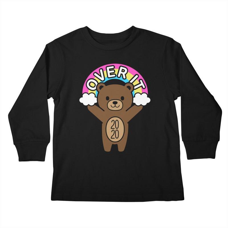 OVER IT 2020 Mood Bear Kids Longsleeve T-Shirt by Robo Roku