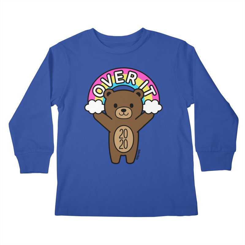 OVER IT 2020 Mood Bear Kids Longsleeve T-Shirt by Robo Roku