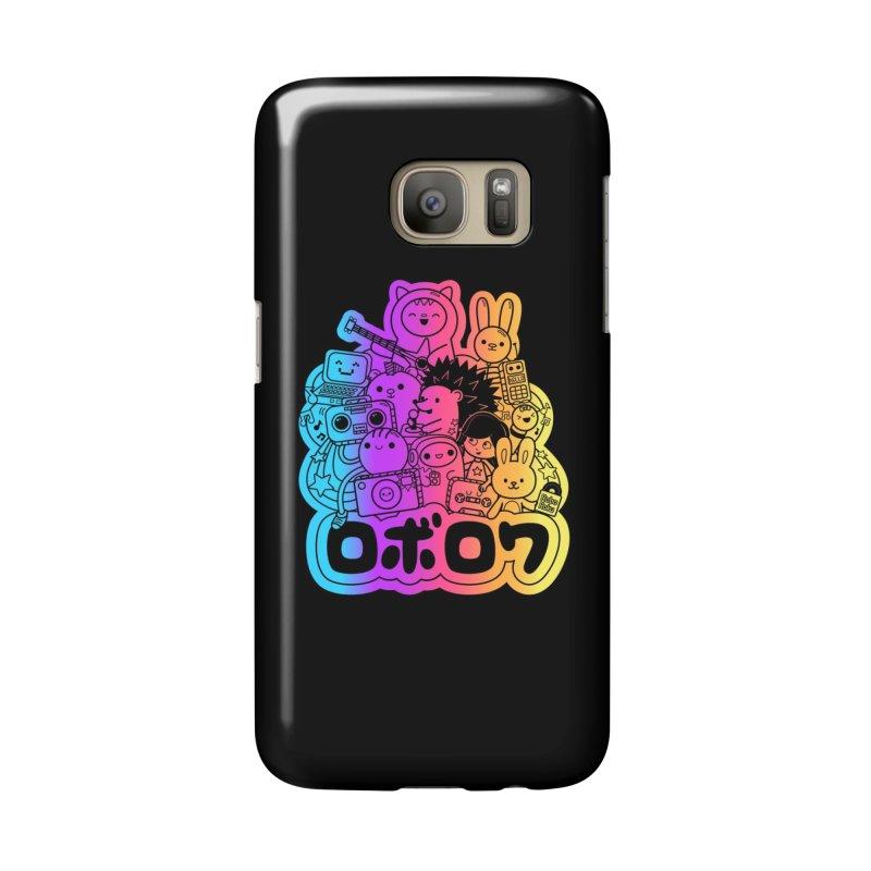 Retrocade Rainbow Fun Accessories Phone Case by Robo Roku