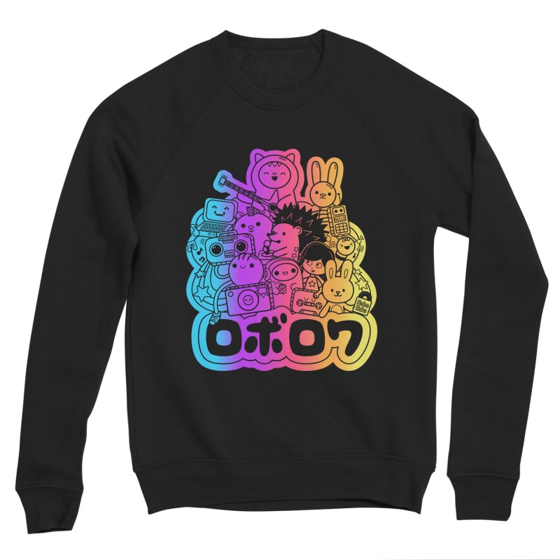 Retrocade Rainbow Fun Men's Sweatshirt by Robo Roku