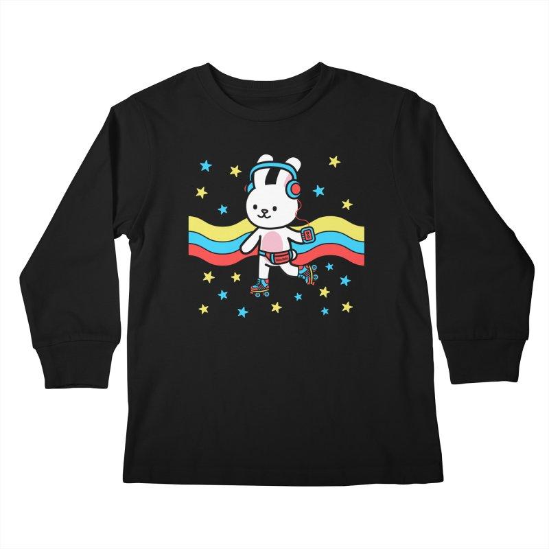 Retrocade LP Skate Kids Longsleeve T-Shirt by Robo Roku