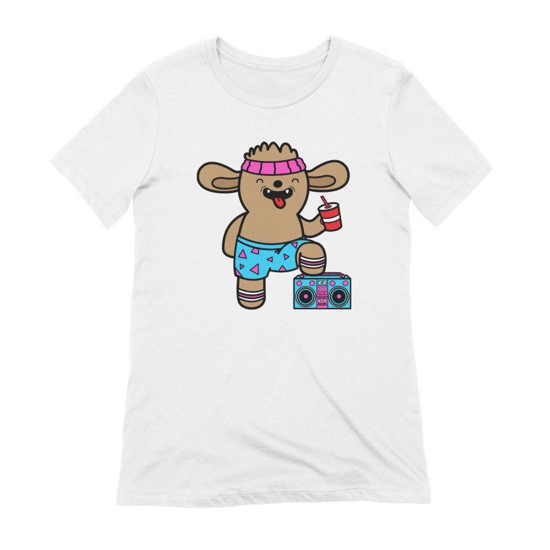 Retrocade Wow Wow Hangout Women's T-Shirt by Robo Roku