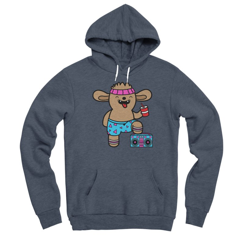 Retrocade Wow Wow Hangout Men's Pullover Hoody by Robo Roku
