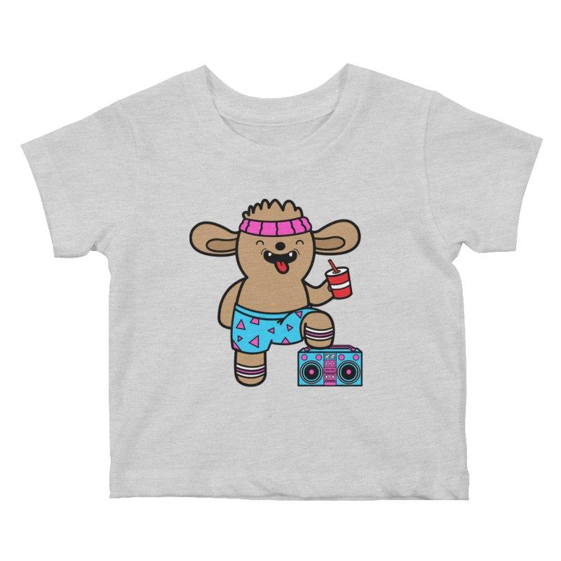 Retrocade Wow Wow Hangout Kids Baby T-Shirt by Robo Roku