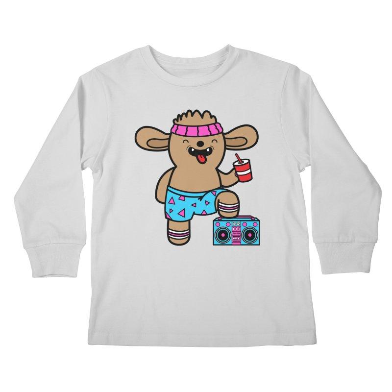 Retrocade Wow Wow Hangout Kids Longsleeve T-Shirt by Robo Roku