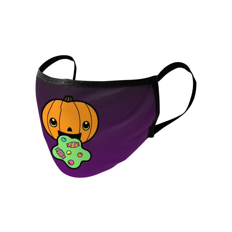 Puking Pumpkin Accessories Face Mask by Robo Roku