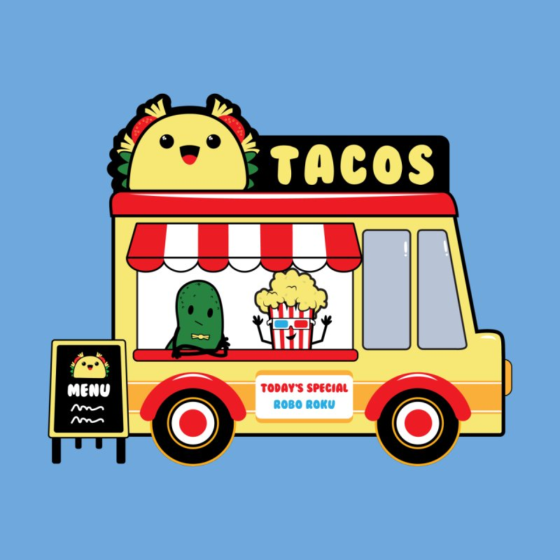 Taco Truck Fun Kids Longsleeve T-Shirt by Robo Roku