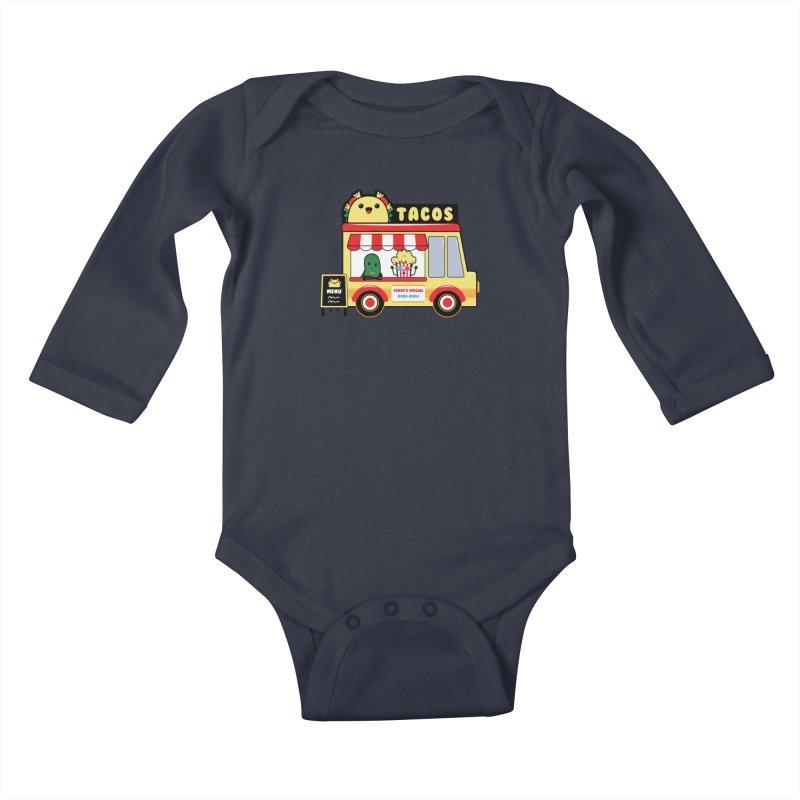 Taco Truck Fun Kids Baby Longsleeve Bodysuit by Robo Roku
