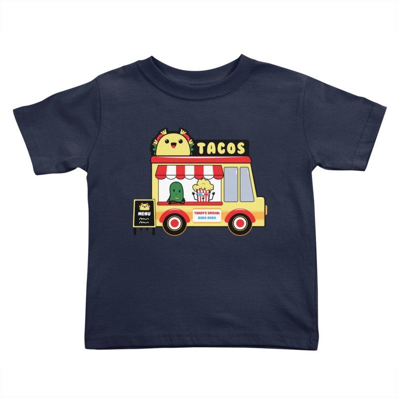 Taco Truck Fun Kids Toddler T-Shirt by Robo Roku
