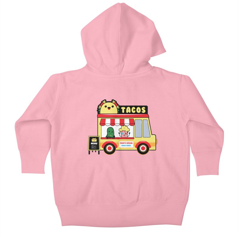 Taco Truck Fun Kids Baby Zip-Up Hoody by Robo Roku
