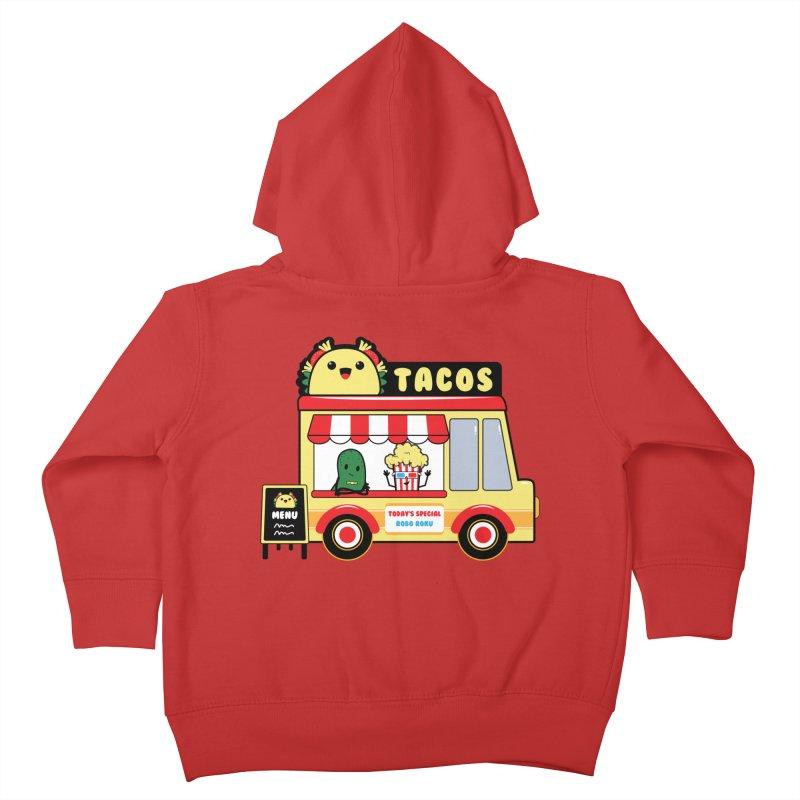 Taco Truck Fun Kids Toddler Zip-Up Hoody by Robo Roku