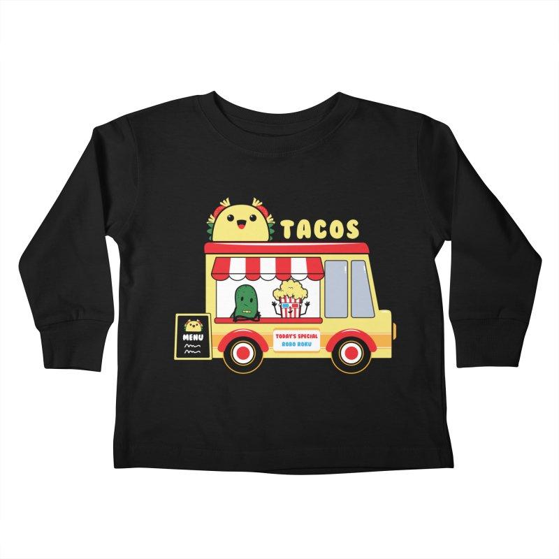 Taco Truck Fun Kids Toddler Longsleeve T-Shirt by Robo Roku
