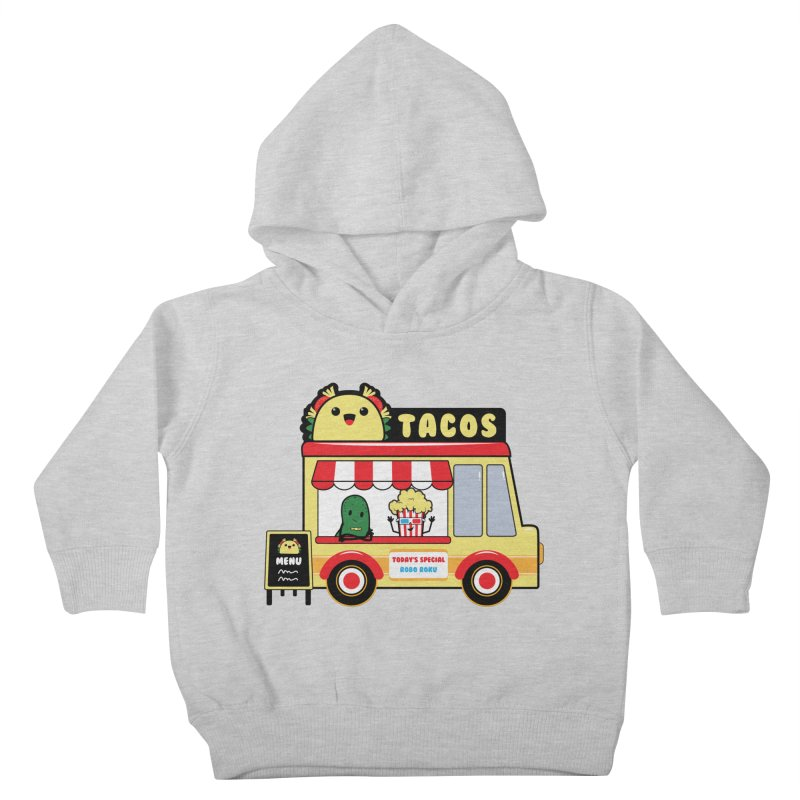 Taco Truck Fun Kids Toddler Pullover Hoody by Robo Roku
