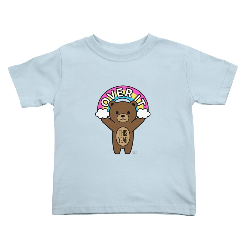 Over It! This Year Mood Bear Kids Toddler T-Shirt by Robo Roku