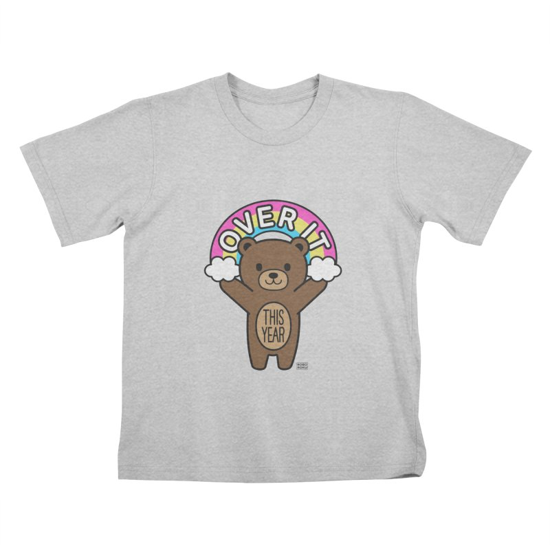 Over It! This Year Mood Bear Kids T-Shirt by Robo Roku