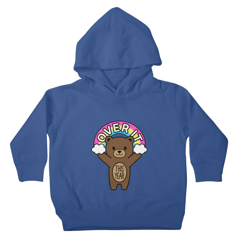 Over It! This Year Mood Bear Kids Toddler Pullover Hoody by Robo Roku