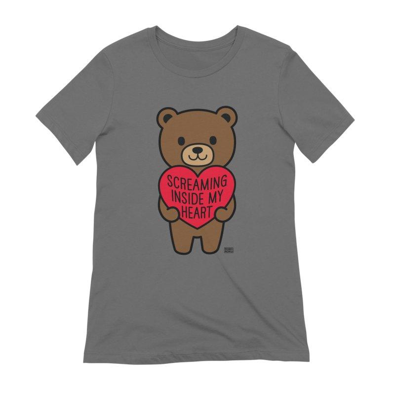 Screaming Inside My Heart Mood Bear Women's T-Shirt by Robo Roku
