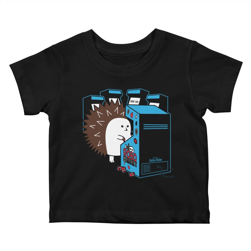 Duncan the Hedgehog Arcade Kids Baby T-Shirt by Robo Roku
